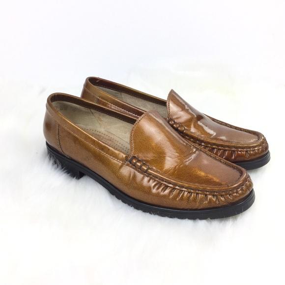 quality design 16423 2a645 ARA Mokassin Brown Gold Genuine Leather Loafer